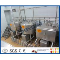 China 5000L/H Milk Production Plant /Beverage Processing Equipment With Bottle Package on sale