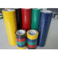 PVC Wire Harness Tape Rubbber Adhesibe Electrical Insulating Tape Black / Green Matte Film Manufactures