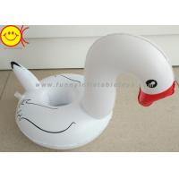China White Pool Float Mini Swan Cup Holders With Red Mouth wholesale