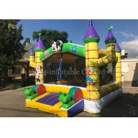 China Yellow Outdoor Playground Inflatable Jumping Castle For Kids / Indoor Bouncy Castle on sale