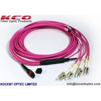 China OM4 MPO MTP Patch Cord LC SC  Connector 8 12 24 Core  Pink Violet LSZH Cover on sale