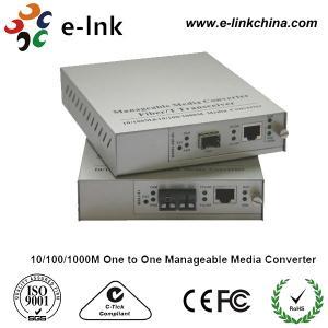 2km Gigabit Ethernet Media Converter With Internal Power , Managed Fiber Media Converter Manufactures