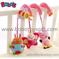 Cute Pink Animal Style Plush Baby Bed Hanging Toys with music box In High Quanlity Manufactures