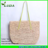 China Natural Hand Crochet Raffia Straw Bag on sale