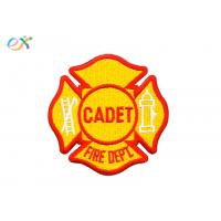 Customized Designs Yellow Color Iron On Embroidered Patches For Clothing Manufactures