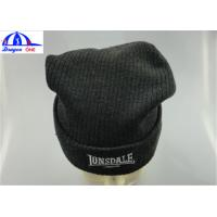 Winter Custom Knit Acrylic Adult Mens Beanie Hats With Embroidery Customized Manufactures