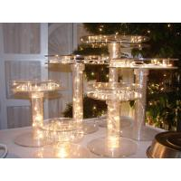 Unique Tiered Lighted Acrylic Cupcake Stand For Party , Custom Size Manufactures