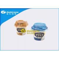 Outerside Paper Inside Plastic Yogurt Cups With Lids High End Appearance for sale