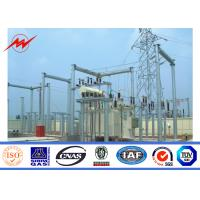 High Voltage Galvanized Steel Poles Electric Transformer Substation Structure Series