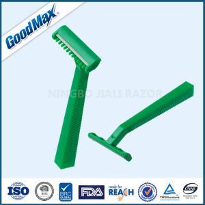 Green Color Disposable Double Edge Razor , Goodmax 2 Blade Disposable Razor Manufactures