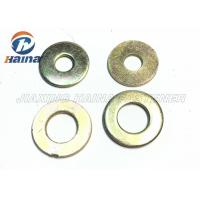 Color Plated Flat Washers Plain Carbon Steel Round Head For Iron Stamping Out Manufactures