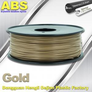 Custom Gold Conductive ABS 3d Printer Filament 1.75 mm / 3.0mm Plastic Materials Manufactures
