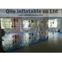 Amusement Playground Air Bubble Football Soccer Half Green And Orange Color Manufactures