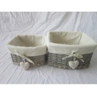 wicker gift basket set of two, with heart decoration Manufactures
