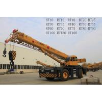 Bridge Construction Use Boom Truck Crane With 360° Unlimited Swing RT70U RT70E Manufactures