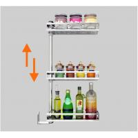 Eco - FriendlyStainless Steel Wall Spice Rack Drilling On Wall Easy Cleaning Manufactures