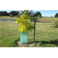 China Light Green Corrugated Plastic Tree Guards UV Resistant For Protection Green on sale
