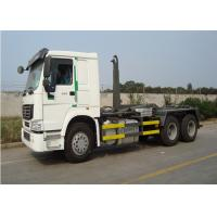 10 Wheel 6x4 Garbage Collection Trucks 290HP Engine Trucks Hook Lift Bin Truck Manufactures