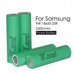 Samsung 25r 3.7 V 18650 Li-ion Battery 18650 2500mah/INR18650-25R 2500mah 3.7v 18650 25R Samsung Manufactures