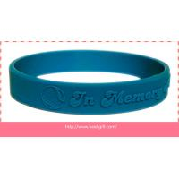 embossed silicone wristband bracelet without color filling Manufactures