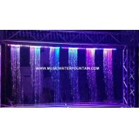 Musical Interactive Rain Curtain Waterfall Digital Water Curtain Decorated Manufactures
