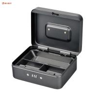 China 3 Cell Metal Coin Money Storage Safe Security Box Holder Suitcase With Combination Lock on sale