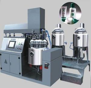 Cosmetic Making Machine 500L Tilting Homogenizer Vacuum Emulsifying Mixer For Lotion Paste Manufactures