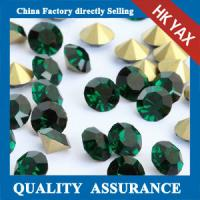 glass chaton strass china factory price,strass glass chaton china color chart for accessory,jx0805 Manufactures