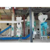 Ring Die Wood Pellet Production Line , 500kg/H Small Sawdust Pellet Line Manufactures