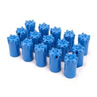 Buy cheap Blue Tungsten Carbide Buttons , Tipped Tapered Drill Bits For Rock Drilling from wholesalers