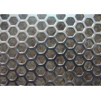 Galvanized Perforated Metal Mesh Hexagonal / Round Hole 3mm - 200mm Aperture Manufactures
