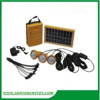 China High lumens Led solar lighting kits, solar system with or without FM radio for home, camping on sale