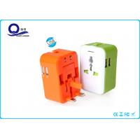 5V 2.4A Ipad / Ipod USB Double Port Power Adapter Plugs For Travelling / Business Trip Manufactures