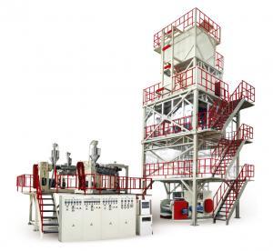 700-1200 Twisting Resistant Plastic Film Blowing Machine POF Heat Shrink 30-60 Ton Manufactures