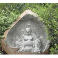 Chinese White Happy Laugh Carved Sitting Buddha Sculpture Manufactures