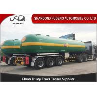 Fudeng 3 Axles Max 25Tons / 60m3 / 60000Liters Lpg Propane Tanker  , LPG Transport Trailer Manufactures