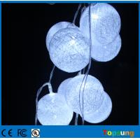 China cotton ball 10leds string battery powered led christmas light on sale