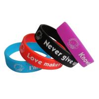 Cutom Cheap Embossed and Imprinted Silicone Wristband, Embossed Rubber Bracelet Manufactures