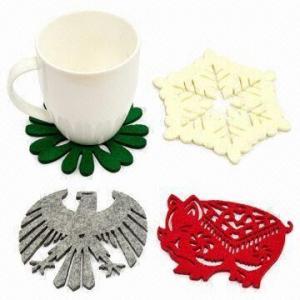 Laser-cut Felt Free-form Coasters Manufactures