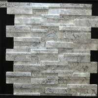 China Natural Stone White Marble Stone Wall Cladding Flat Face Customized Size on sale