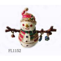 China Christmas Festival Sownman Home Decorative Metal Figurines on sale