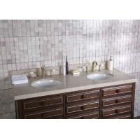 Simple Elegant  Custom Bathroom Vanity Tops White Sink Built In Type Manufactures