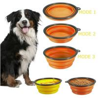 dog bowl plastic feeder pet cat food collapsible dog bowl silicone foldable dog food bowl portable travel pet water bowl Manufactures