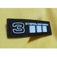 Custom Geographical 3D Metal Soft Silicone Rubber PVC Patches For Jacket Manufactures