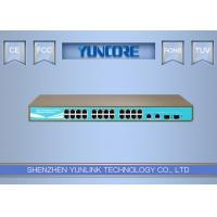 China 48V Standard Power Over Ethernet Switch , 802.3at Gigabit 24 Channel POE Switch on sale