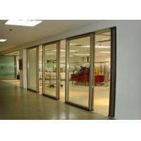 Office Folding Glass Block Partition Walls 680 / 1230 Width 2000 / 4500 Height Manufactures