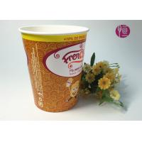 32oz Disposable Enamel French Fries Containers With Flexo Print Manufactures