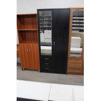 Foldable Doors Marine Plywood Wardrobe / Open - Shelves Wooden Cloth Cabinet Manufactures