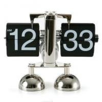 China best price flip over clock libra flip clock ,metal table clock on sale