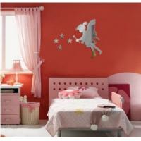China Hot sale fairy with stars PS wall decal1MM thickness 3D mirror stickers stars home decor on sale